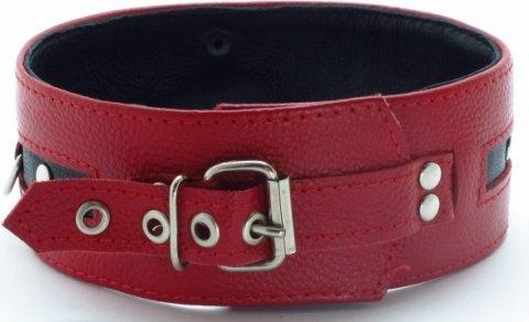 Ошейник красный с черным, фото 2