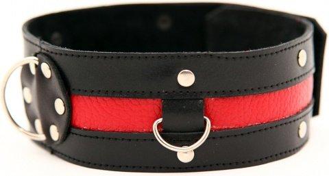 Ошейник черный с красным, фото 2