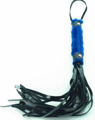 плеть из лака с синим мехом bdsm light