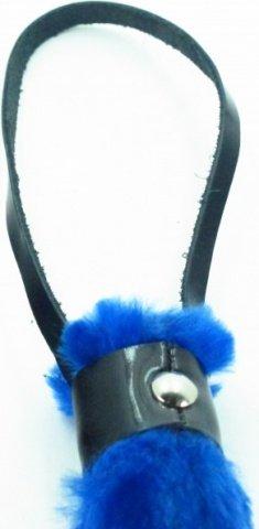 плеть из лака с синим мехом bdsm light, фото 2