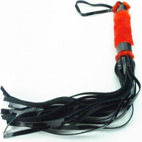 плеть из лака с красным мехом bdsm light