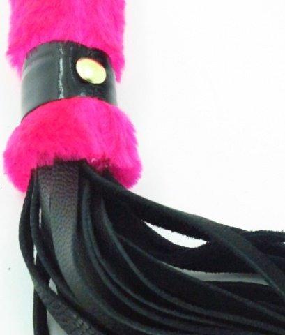 нежная плеть с розовым мехом bdsm light, фото 2