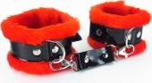 Красные наручники с мехом | Наручники | Секс-шоп Мир Оргазма