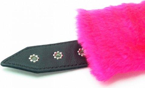 розовые наручники с мехом bdsm light, фото 3