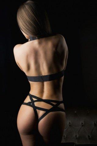 Комплект Тигрица (топ, трусики, наручники) черный-OS, фото 2