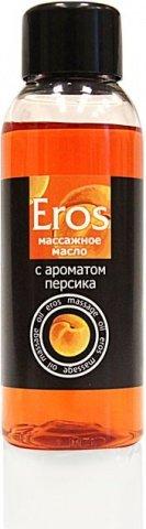 Масло массажное eros (с ароматом персика) флакон 50 мл, фото 2
