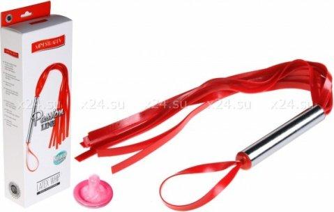 Плеть резиновая 12 хвостов красная 30 см, фото 3