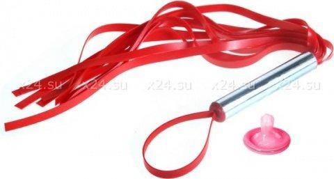Плеть резиновая 12 хвостов красная 30 см