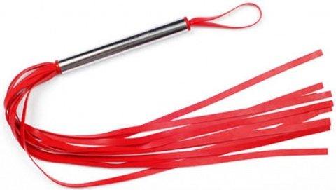 Плеть резиновая 12 хвостов красная 43 см