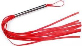 Плеть резиновая 12 хвостов красная 43 см, фото 2