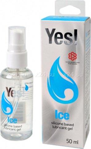 Силиконовая вагинальная смазка Yes Ice 50 мл 4703sit, фото 2