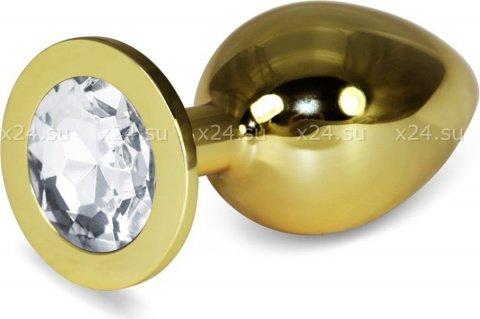 Большая золотая пробка с прозрачным кристаллом