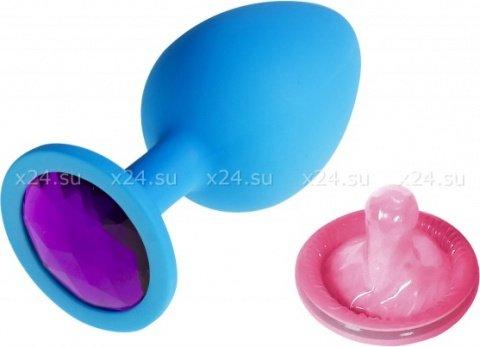 Силиконовая втулка с фиолетовым кристаллом Sexy Friend