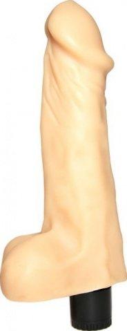 Вибратор с имитацией крайней плоти, телесный, 55 х210 мм 21 см
