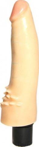 Вибратор с усиками для стимуляции клитора, с розовой головкой, телесный, 40 х170 мм, фото 5