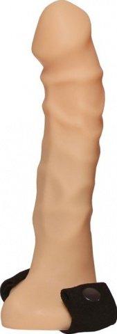 Страпон с полостью, телесный, 35 х190 мм 19 см