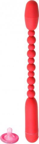 Вибратор анальный 19 см красный, фото 2