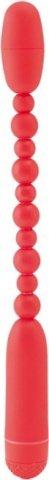 Вибратор анальный 19 см красный, фото 3