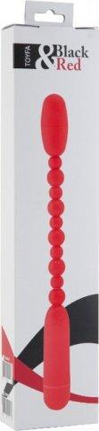 Вибратор анальный 19 см красный, фото 4