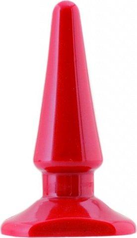 Втулка анальная 10,5 см красная, фото 3