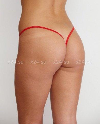 Стринги контактные женские красное кружево р, фото 2