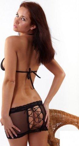 Комплект: лиф + юбка, шнуровка сзади, черный, размер, фото 3