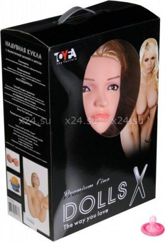 Кукла надувная с реалистичной головой. Блондинка в лежачей позе. Вставка вагина в анус. 2 отверстия, фото 2