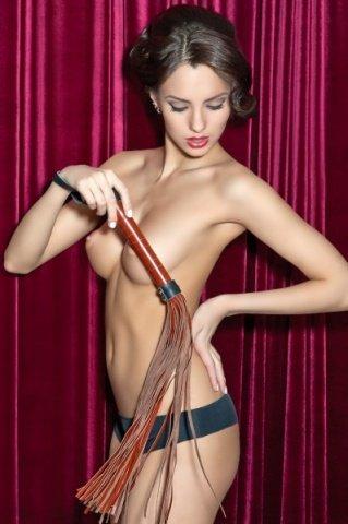 Плеть кожаная коричневая