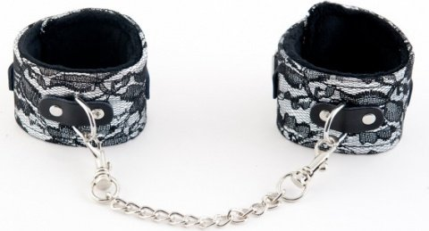 Кружевные поножи серебристые, фото 3