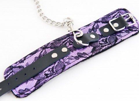 Кружевные наручники пурпурные, фото 2