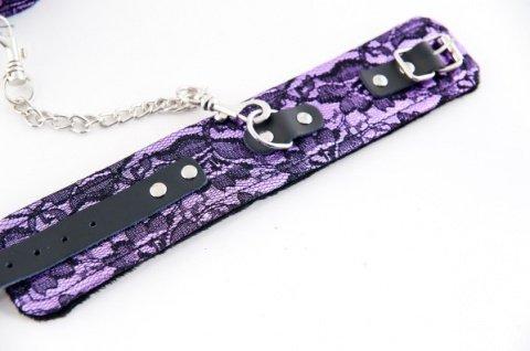 Кружевные поножи пурпурные, фото 2