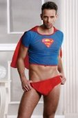 Костюм супермена красно голубой | Футболки, майки | Интернет секс шоп Мир Оргазма