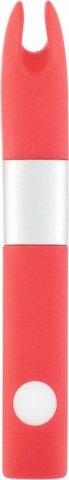 Вибратор клиторальный 4Gb USB памяти, 7 режимов вибрации, красный, фото 2