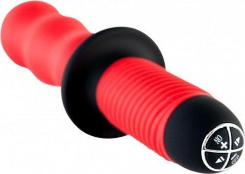 Вибратор с двойным мотором, красный, фото 3