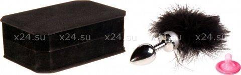 Анальная втулка маленькая с черной опушкой, фото 2