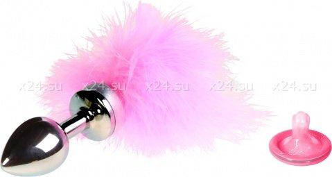 Анальная втулка маленькая с розовой опушкой
