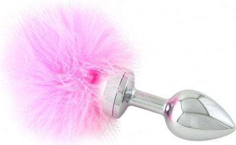Анальная втулка маленькая с розовой опушкой, фото 3