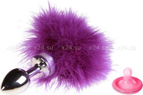 Анальная втулка маленькая с фиолетовой опушкой, фото 2