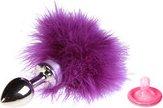 Анальная втулка маленькая с фиолетовой опушкой - Секс-шоп Мир Оргазма