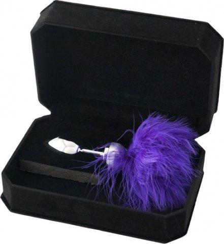 Анальная втулка маленькая с фиолетовой опушкой, фото 3