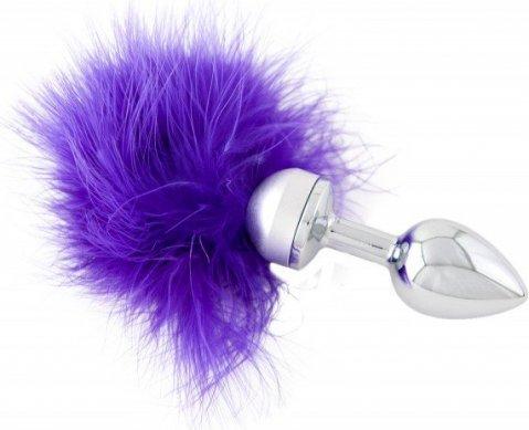 Анальная втулка маленькая с фиолетовой опушкой, фото 4