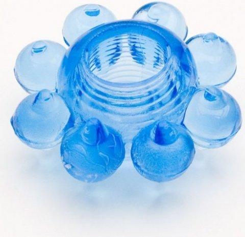 Кольцо гелевое синее, фото 2