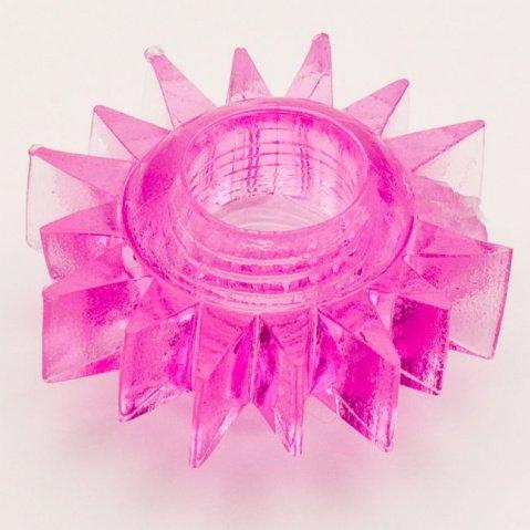 Кольцо гелевое розовое, фото 2