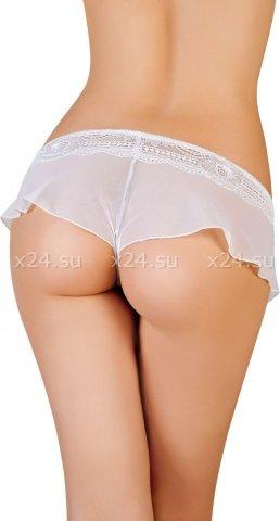 Эротические трусики-юбочка из стрейч-сетки белые ( ), фото 2