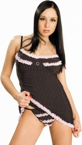 Платье и стринги черно-розовые