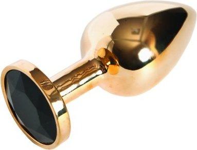 Анальная втулка золото большая (черный)