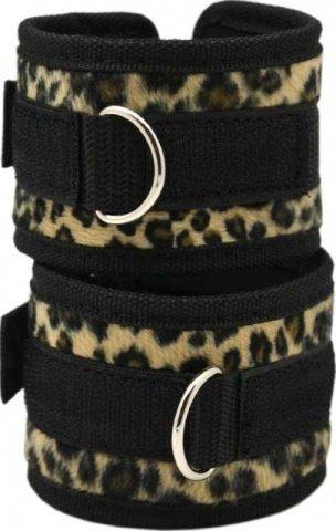Набор: маска + наручники + наножники, леопардовый,, фото 2