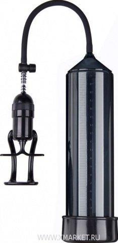 Помпа вакуумная eroticon pump x3 с ручным насосом, чёрная, 60 х230 мм
