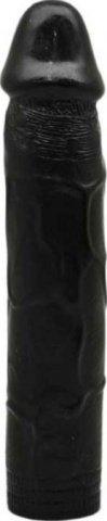 Фаллоимитатор, гнущийся, черный, 35 х180 мм 18 см