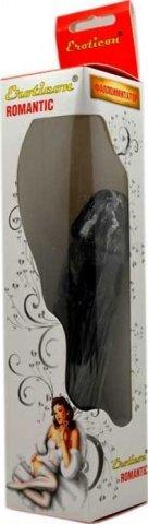 Фаллоимитатор, гнущийся, черный, 35 х180 мм 18 см, фото 2